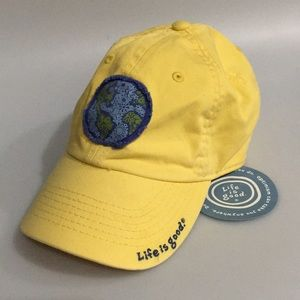 Life is Good World 🌎 Yellow Hat • SnapBack